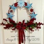A Wreath with Festive Flurry Framelits and the Christmas Star