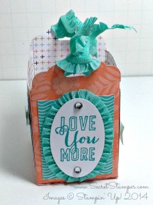 Love You More, Scallop Tag Topper Punch