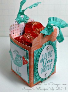 Love You More, Scallop Tag Topper Punch, Gift Bag
