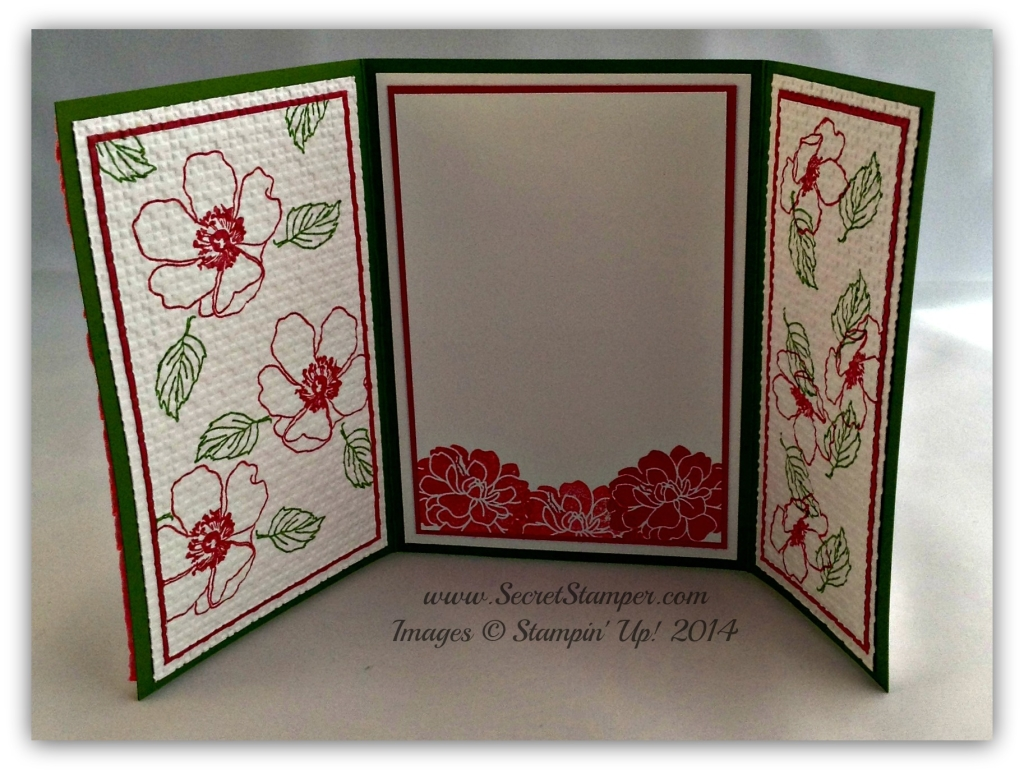 By Debbie Mageed, Fabulous Florets, En Francais, Floral Fusion Sizzlets, Fun Fold