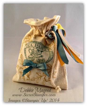 Tea Party, Choose Happiness Muslin Bag
