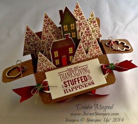 Holiday Home, Homemade Holiday Framelits, Festival of Trees, Card in a Box, Baby Wipe Technique 2