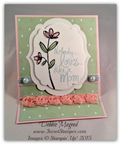 Mother's Love, Easel Card, Artisan Embellishment Kit, Mother's Day 2
