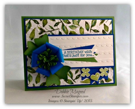 Remembering Your Birthday, Pictogram Punches, Bow Builder Punch, Painted Blooms
