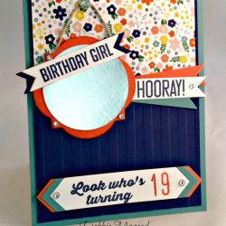By Debbie Mageed, Hooray It's Your Day, Projecct Life Day to Day, Flowerpot DSP, Stampin Up