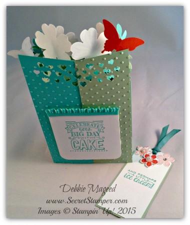 Memorable Moments, Papillon Potpourri, Flower Shop, Petite Petals, Big Day, Cascade Card, Back View 2