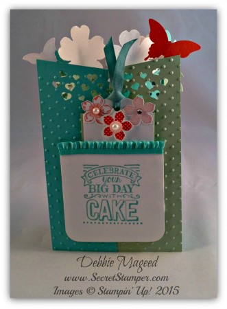 Memorable Moments, Papillon Potpourri, Flower Shop, Petite Petals, Big Day, Cascade Card, Back View