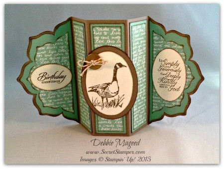 Wetlands, Trust in God, Fun Fold Card, Floral Framelits