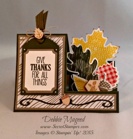 Autumn Accents, Wonderfall, Side Step Card