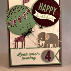 By Debbie Mageed, Celebrate Today, Zoo Babies, Stampin Up