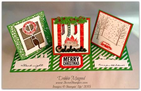 Festive Fireplace, Jingle All the Way, White Christmas, Sleigh Ride Edgelits
