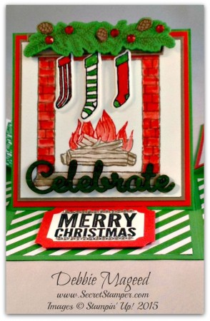 Festive Fireplace, Jingle All the Way, White Christmas, Sleigh Ride Edgelits, Center Panel