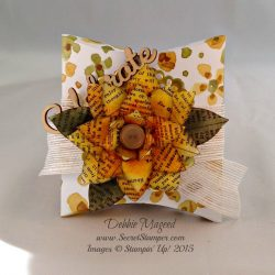 By Debbie Mageed, Festive Flower Punch, English Garden, Square Pillow Box, Stampin Up