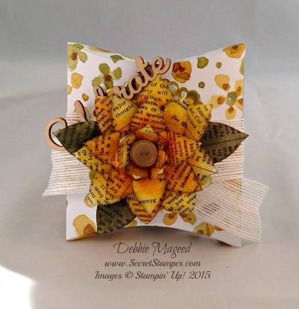 Festive Flower Punch, English Garden, Square Pillow Box