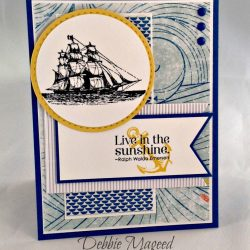 By Debbie Mageed, The Open Sea, Pursuit of Happiness, Stampin Up