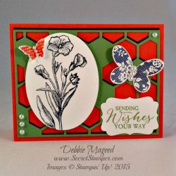 By Debbie Mageed, Butterfly Basics, Hexagon Hive Thinlit, Stampin Up