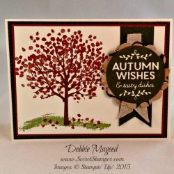 By Debbie Mageed, Sheltering Tree, Among the Branches, Autumn, Stampin Up