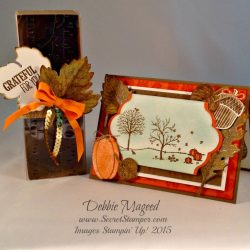By Debbie Mageed, Vintage Leaves, For All Things, Happy Scenes, Acorny Thank You