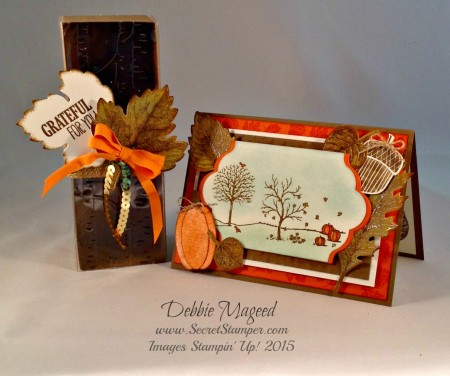 Vintage Leaves, For All Things, Happy Scenes, Acorny Thank You, Stampin Up