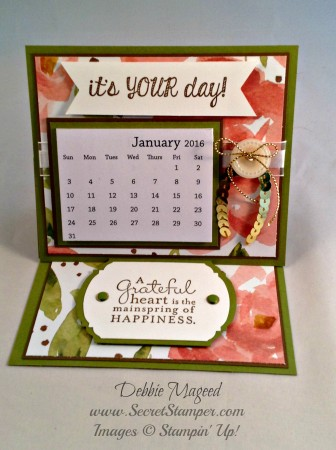 Fabulous Four, Pursuit of Happiness, Easel Card, Calendar