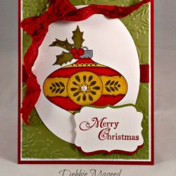 By Debbie Mageed, Christmas Bauble, Holiday & Wishes, Stampin Up