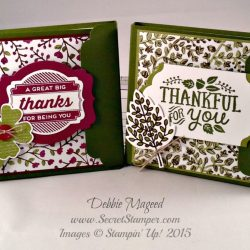 By Debbie Mageed, Thankful Forest Friends, Lighthearted Leaves, Oh My Goodies, Post It Note Holder, Calendar, Stampin Up