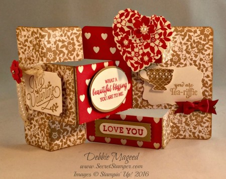 Bloomin' Love, A Nice Cuppa, Merry Everything, Valentine's Tri-Shutter Card Fold