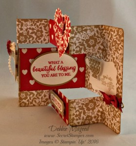 Bloomin' Love, A Nice Cuppa, Merry Everything, Valentine's Tri-Shutter Card Fold, Right View