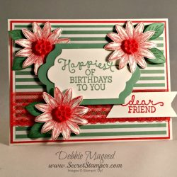 By Debbie Mageed, Grateful Bunch, Birthday Blooms, Stampin Up