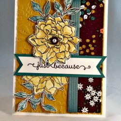 By Debbie Mageed, Peaceful Petals, A Dozen Thoughts, Wildflower Fields, Stampin Up