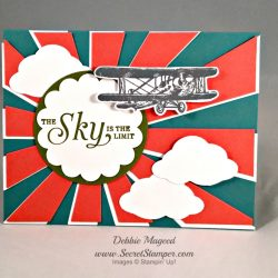 By Debbie Mageed, Sky is the Limit, Sunburst, Stampin Up