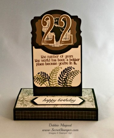 Going Global, Number of Years, Stampin Up, Box Card, Fun Fold Card