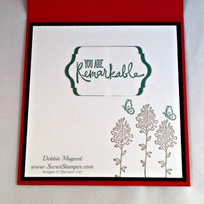Tin of Cards, Remarkable you, Stampin Up, inside