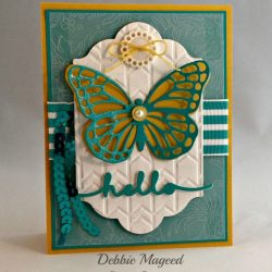 By Debbie Mageed, Butterflies Thinlits, Stampin Up