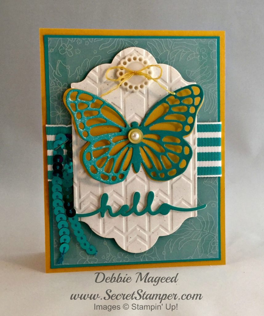 Butterflies are my favorite stampin up thinlits for Stampin pretty craft room