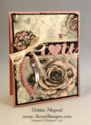 What I Love, Timeless Elegance, Stampin Up