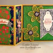 By Debbie Mageed, Beautiful Banners, Thoughtful Banners, Falling Flowers, Detailed Floral Thinlits, Fun Fold, Stampin Up