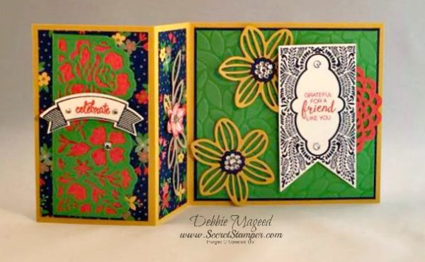 Beautiful Banners, Thoughtful Banners, Falling Flowers, Detailed Floral Thinlits, Fun Fold Card, Stampin Up