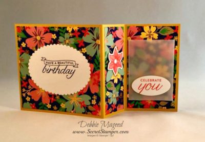 Beautiful Banners, Thoughtful Banners, Falling Flowers, Detailed Floral Thinlits, Fun Fold Card, Stampin Up, Back