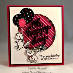 By Debbie Mageed, Bella & Friends, Pretty Kitty, Scenic Sayings, Shaker Card, Stampin Up
