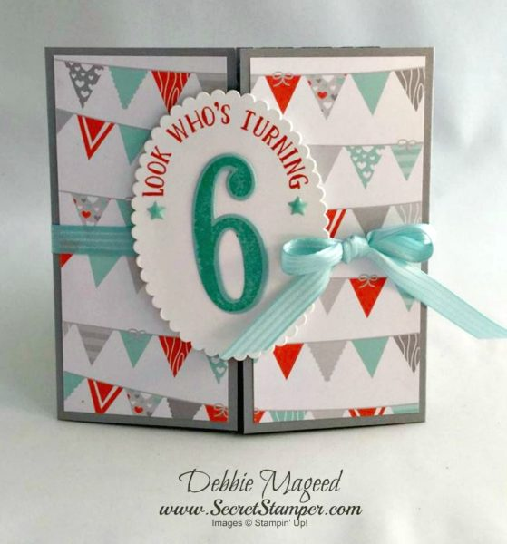 Number of Years, Foxy Friends, Vertical Greetings, Stampin Up