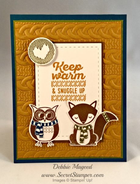 By Debbie Mageed, Cozy Critters, Wrapped in Warmth, Autumn, Stampin Up