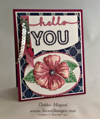 By Debbie Mageed, Bunch of Blossoms, Floral Phrases, You're So Sweet, Stampin Up