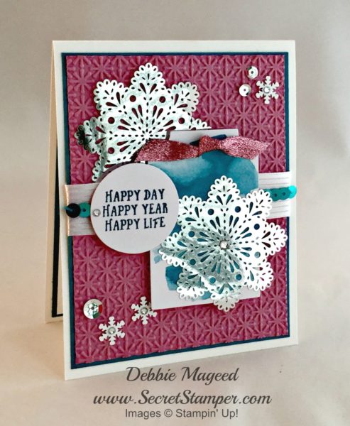 By Debbie Mageed, Tin of Tags, It's a Celebration, Basket of Wishes, Stampin Up