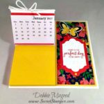 Post It Note Desk Calendar using Bunch of Blossoms for the Pals Blog Hop
