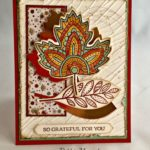 One Last Thanksgiving Card with Stampin' Up Lighthearted Leaves