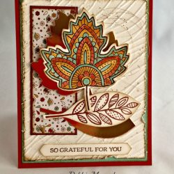By Debbie Mageed, Lighthearted Leaves, Leaflets Framelits, Thanksgiving, Holiday, Stampin Up