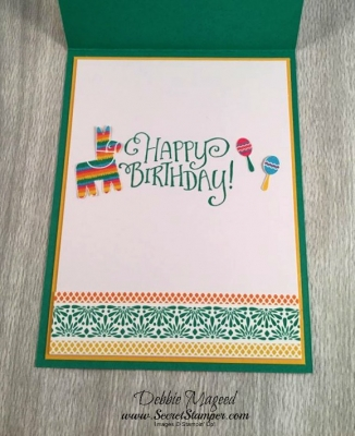 By Debbie Mageed, Birthday Fiesta, Better Together, Festive Birthday DSP, Fiesta, Stampin Up!