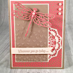 Stampin' Up! Detailed Dragonfly Thinlits Paired with Swan Lake