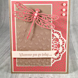 By Debbie Mageed, Swan Lake, Detailed Dragonfly Thinlits, Dragonfly Dreams, Affectionately Yours, Stampin Up